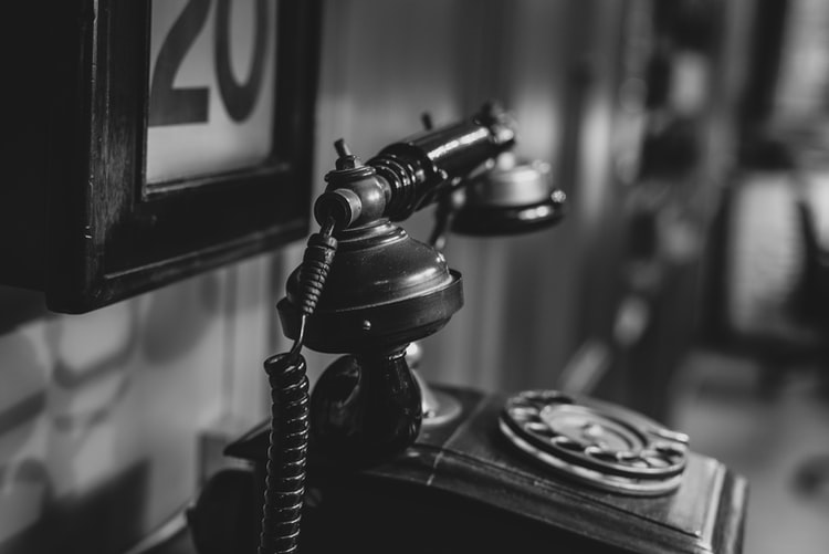 An antique telephone that's probably not used by our telephone interpreters